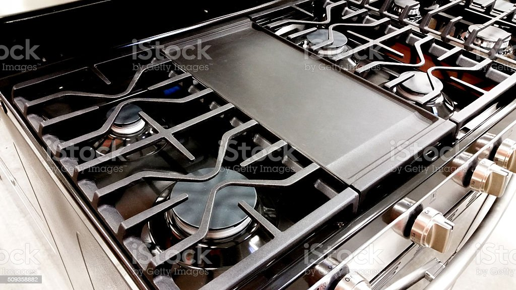 Gas Stove Cooktop stock photo