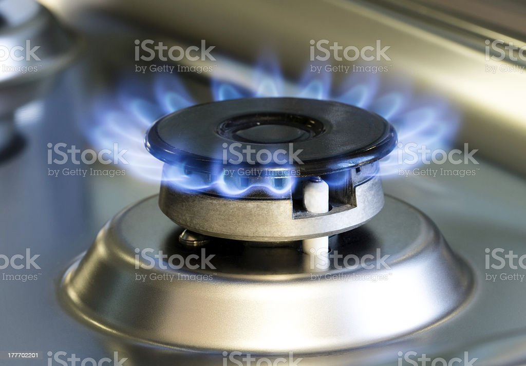 Gas stove enabled royalty-free stock photo