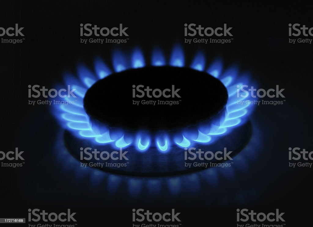 Gas Stove Flame stock photo
