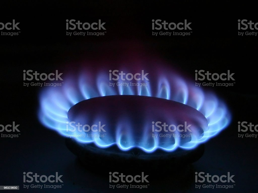 Gas Stove Flame royalty-free stock photo