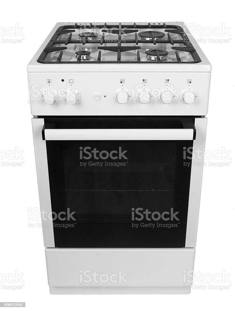 Gas stove isolated stock photo