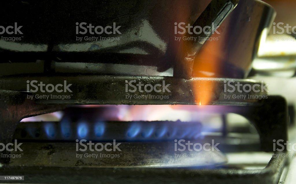 Gas stove stock photo