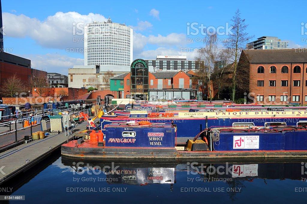 Gas Street Basin, Birmingham stock photo