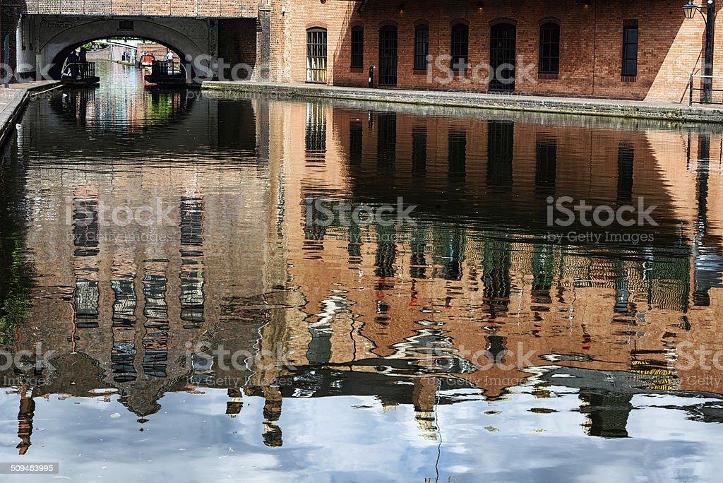 Gas Street Canal Basin in  Birmingham, England stock photo