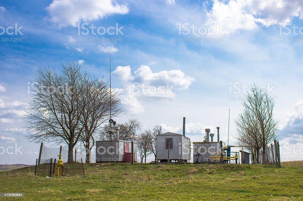 gas substation stock photo