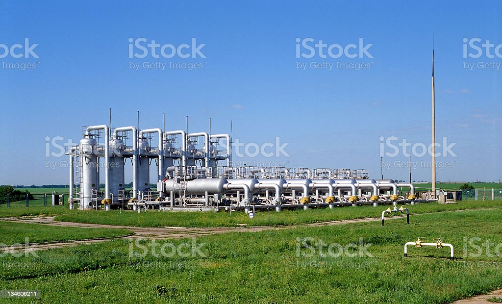 Gas supply stock photo