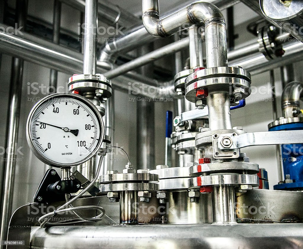 gas system stock photo
