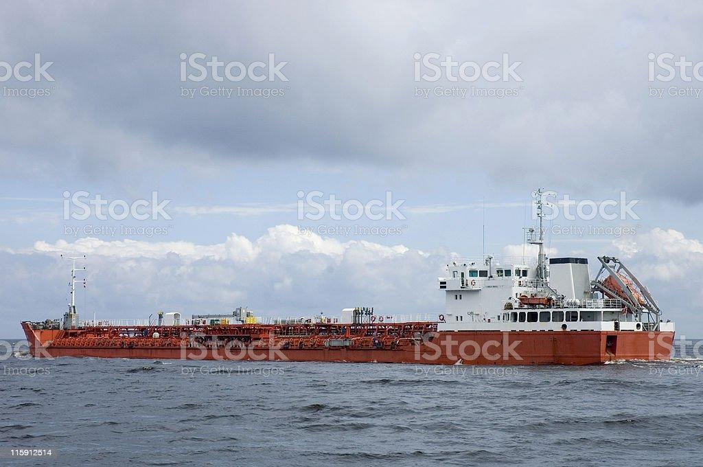 Navire-citerne de gaz photo libre de droits