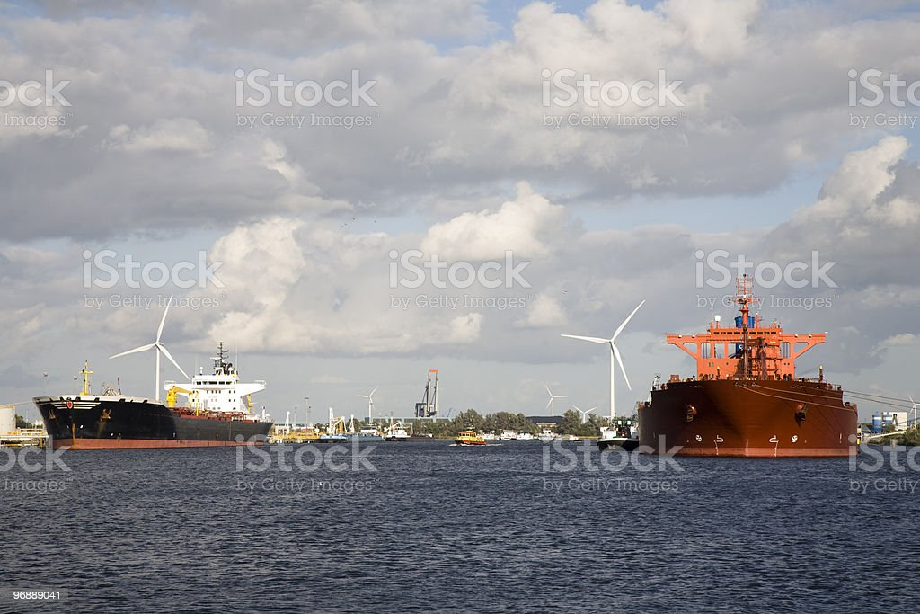Gas tankers royalty-free stock photo