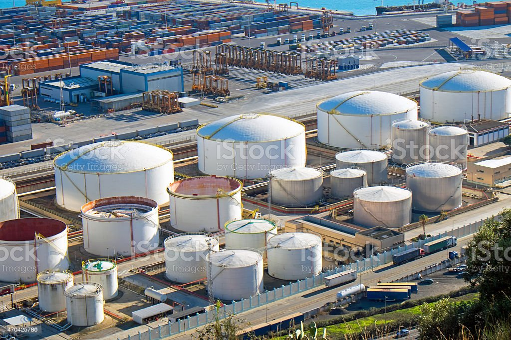 Gas tanks and containers stock photo
