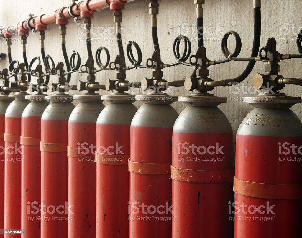 gas tanks royalty-free stock photo