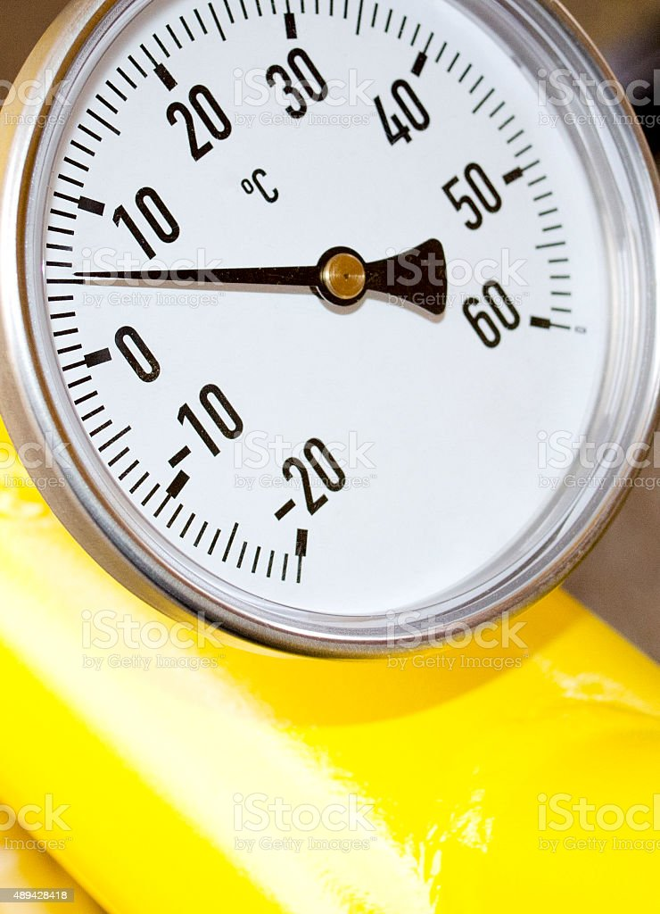 gas temperature measurement royalty-free stock photo