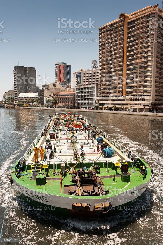 Gas transport ship. royalty-free stock photo