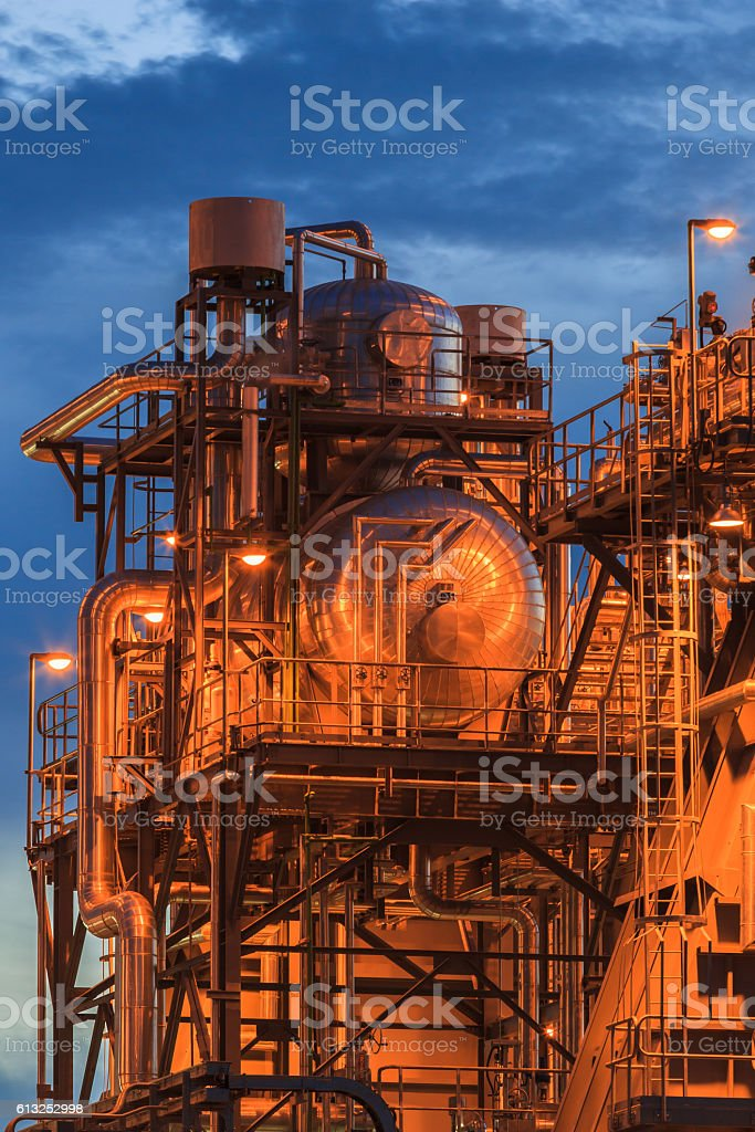 gas turbine electric power plant in Thailand stock photo