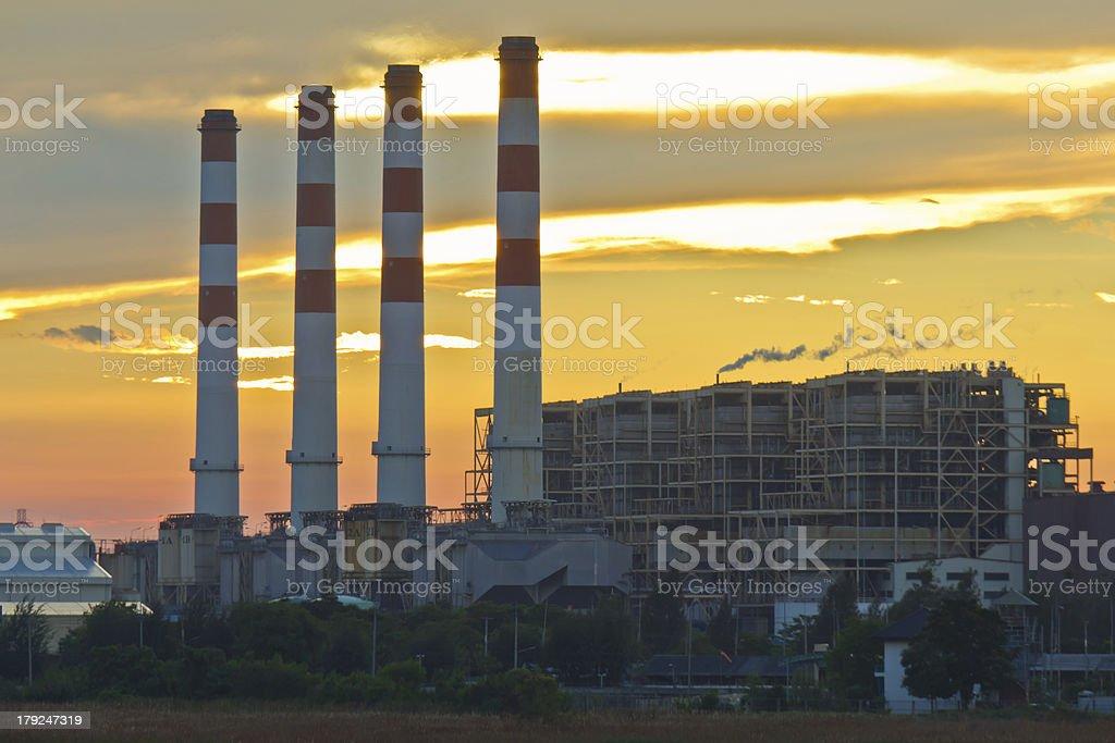 Gas turbine electrical power plant royalty-free stock photo