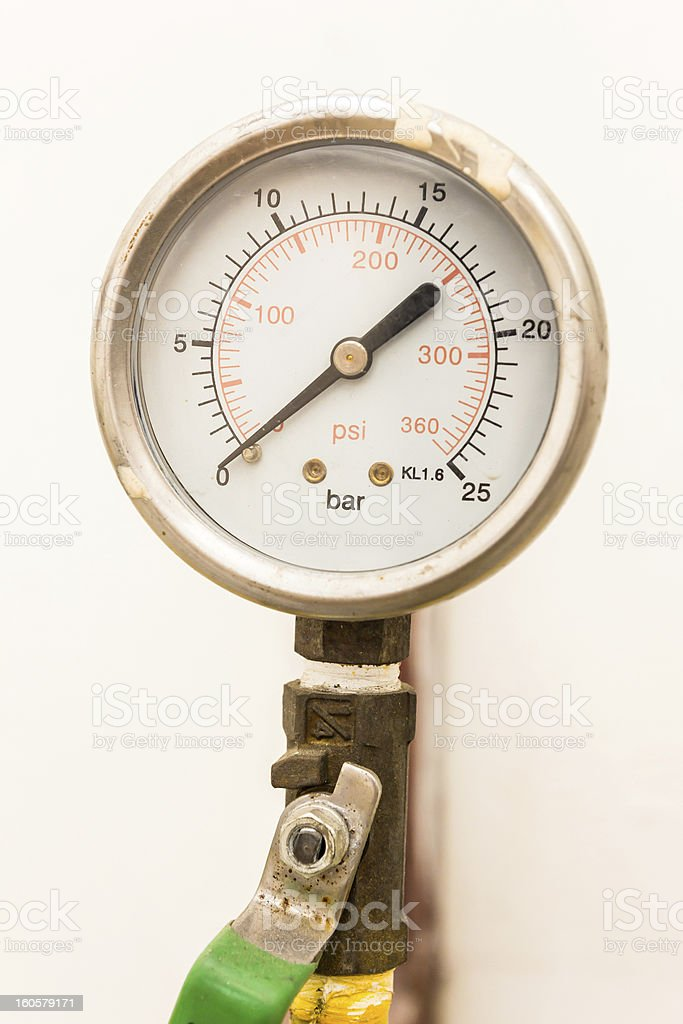 gas valve and meter royalty-free stock photo