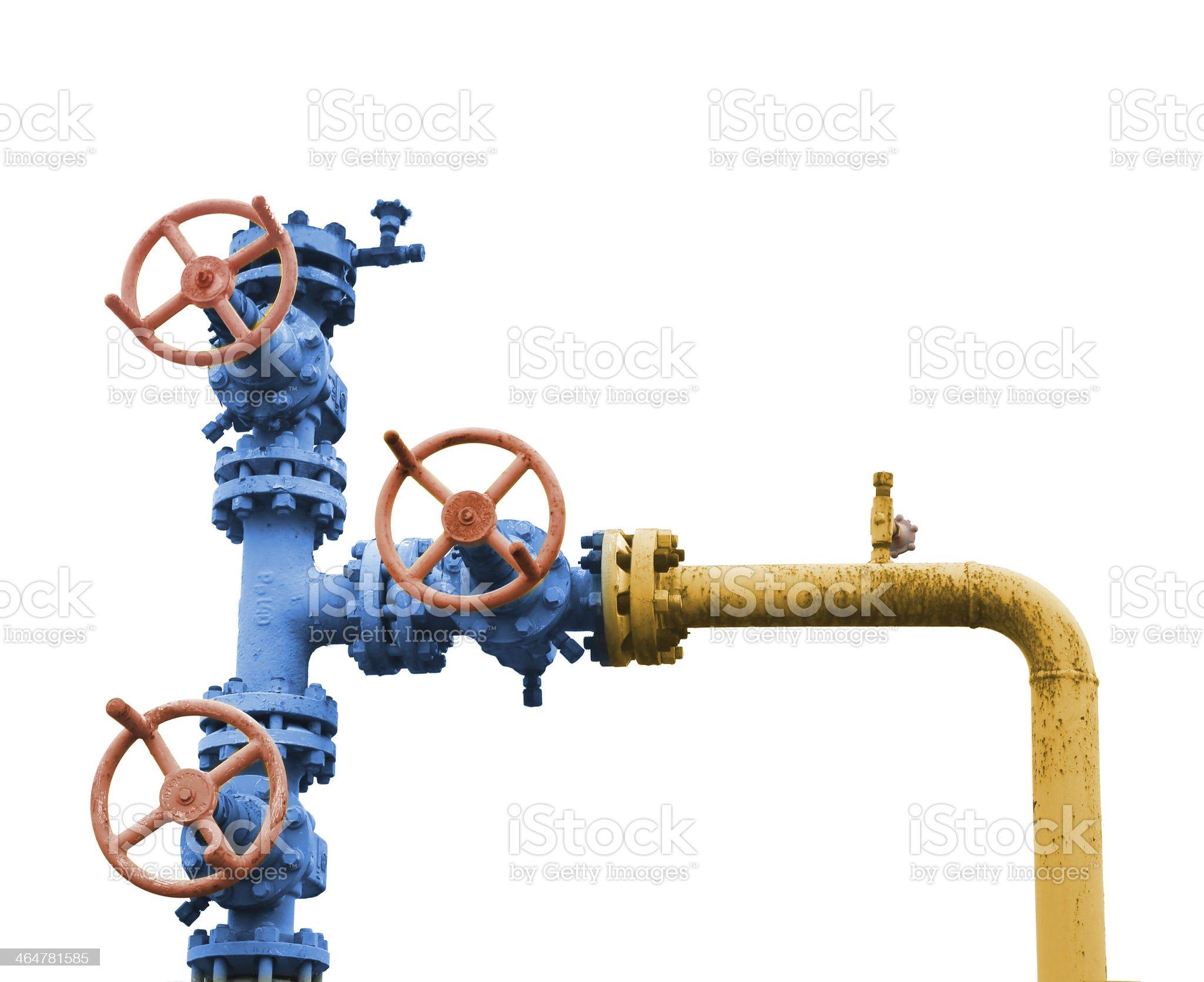 Gas valve tree. royalty-free stock photo
