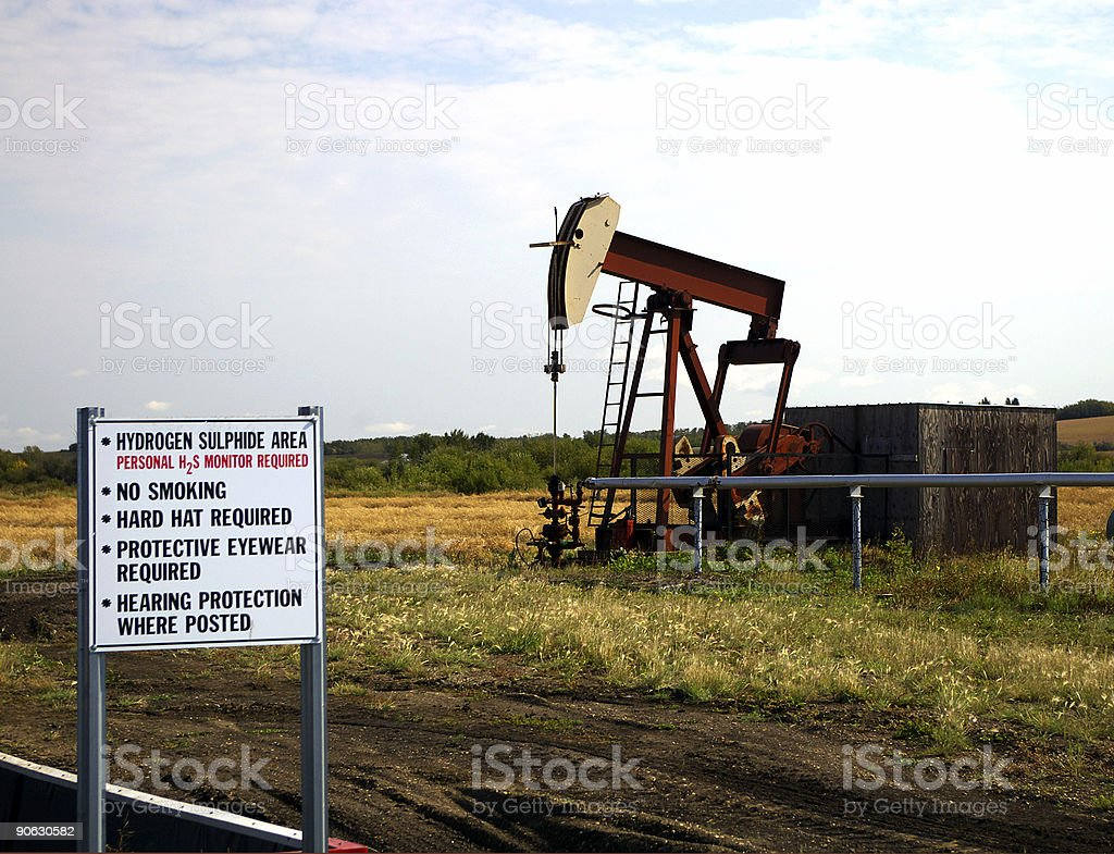 Gas Warning royalty-free stock photo
