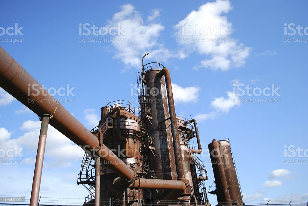 Gas Works Refinery royalty-free stock photo