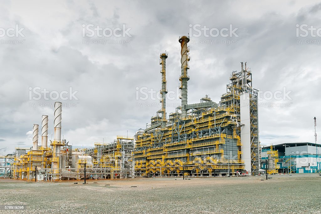 Gas-chemical complex on polypropylene production stock photo