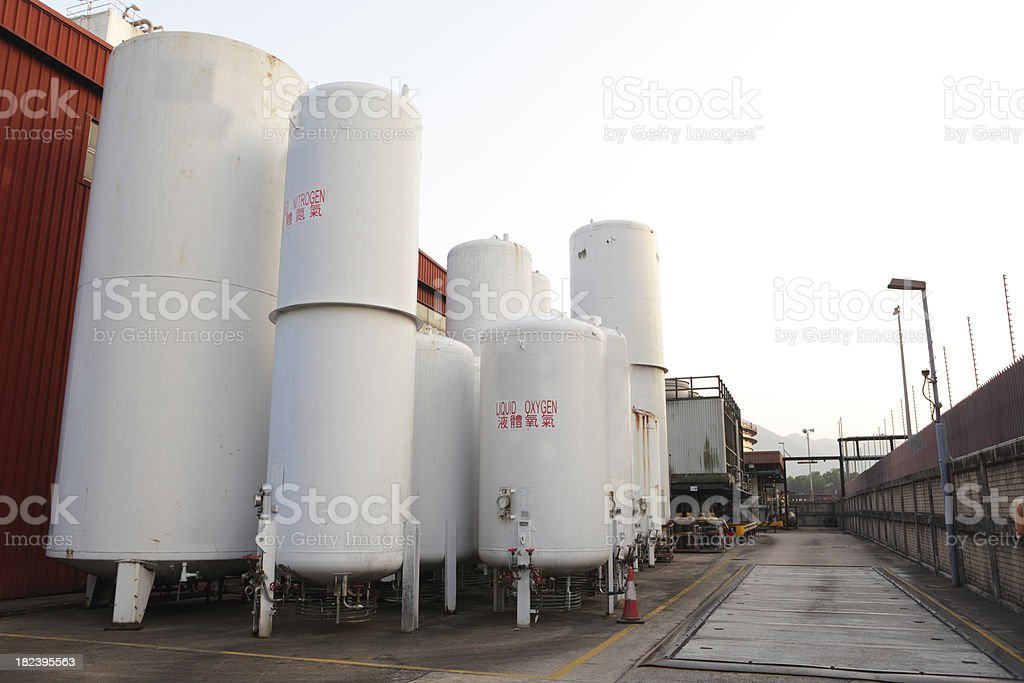Gases Plant royalty-free stock photo