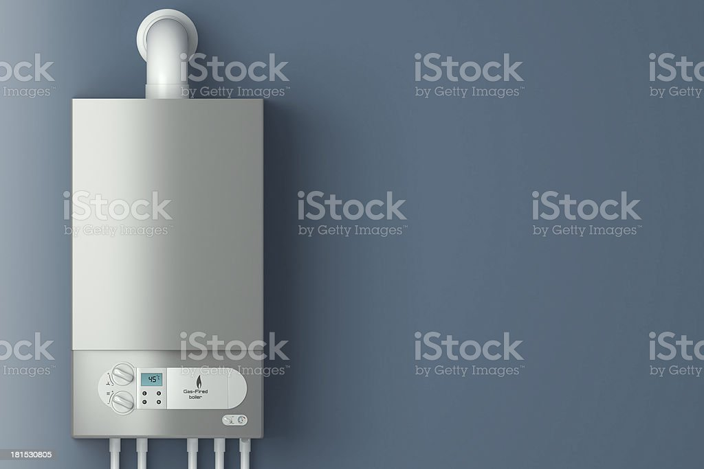 Gas-fired boiler. stock photo
