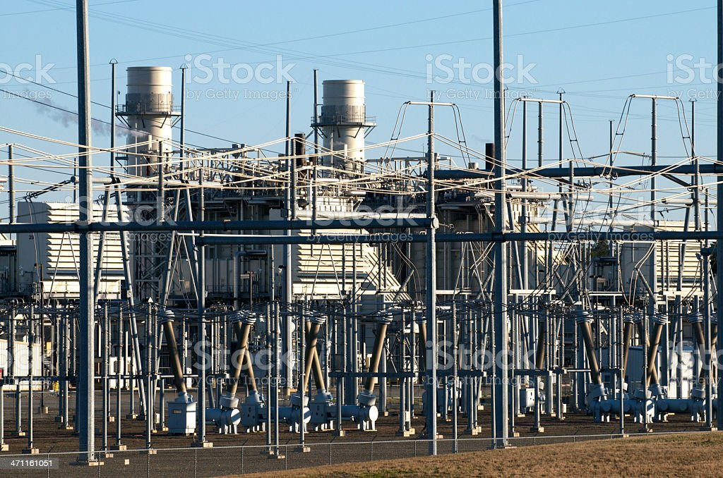 Gas-fired Electricity Generating Station royalty-free stock photo