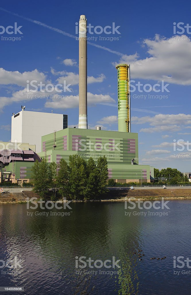 Gas-fired power plant royalty-free stock photo