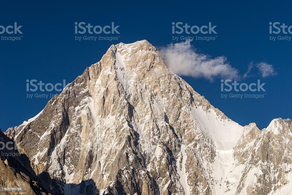Gasherbrum 4 mountain peak, K2trek stock photo