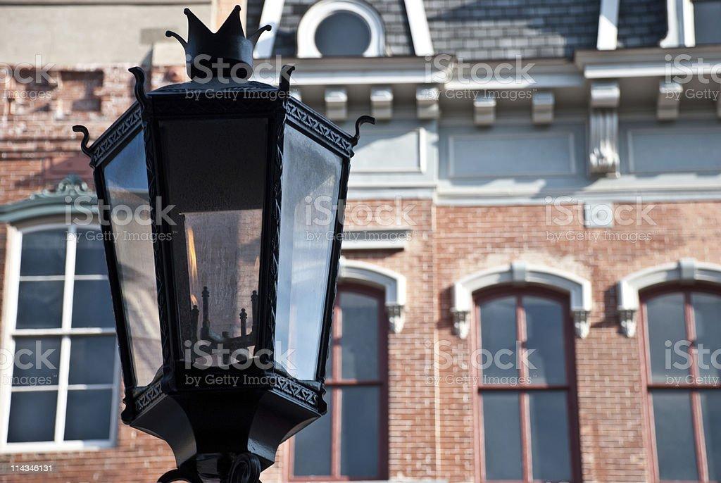 Gaslamp on the Strand stock photo