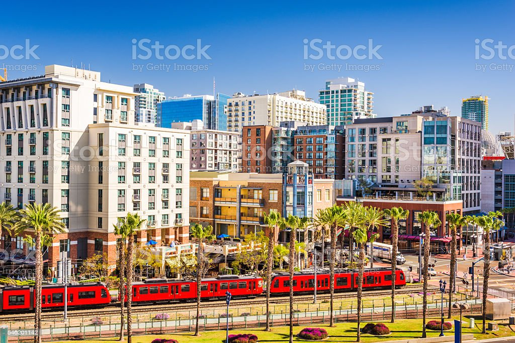 Gaslamp Quarter in San Diego stock photo