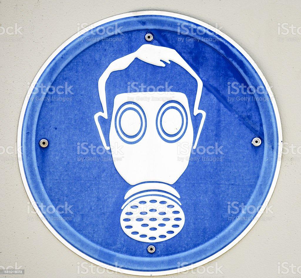 gasmask sign stock photo