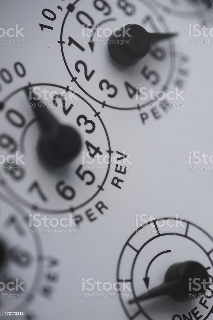 gasmeter royalty-free stock photo