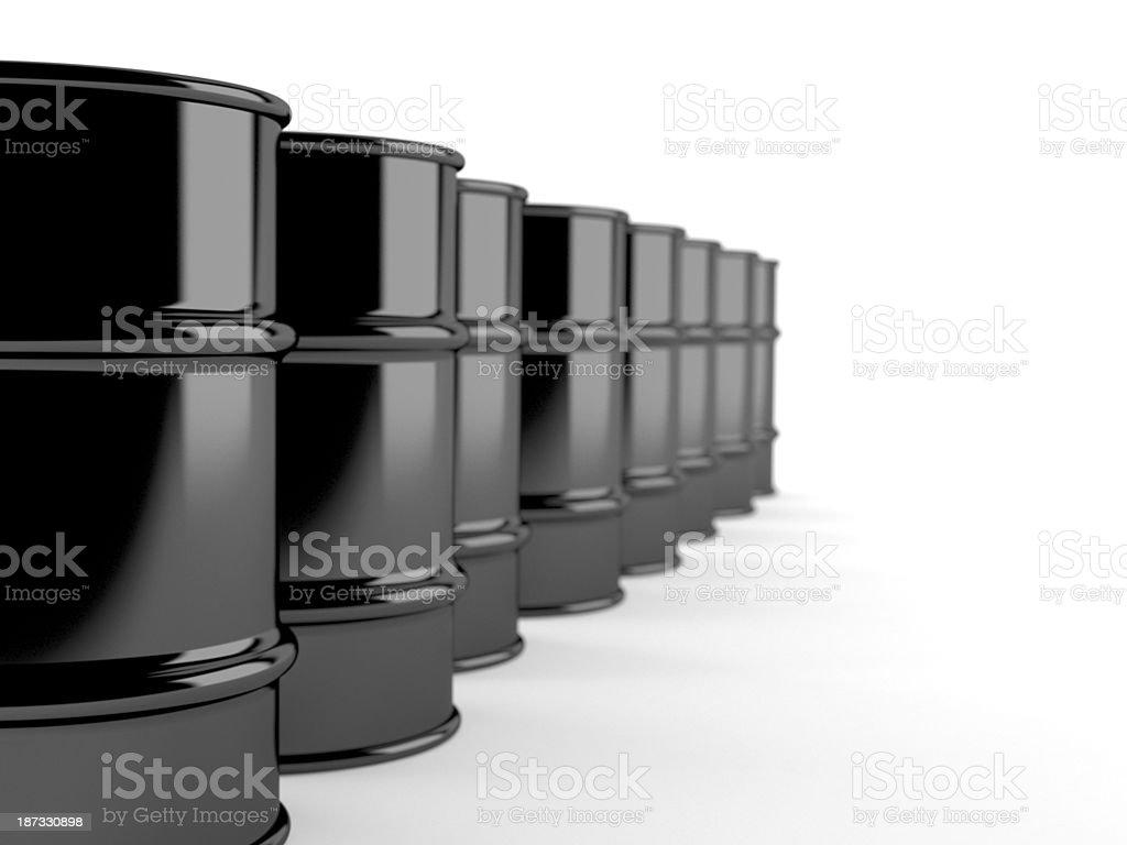 Gasoline barrels royalty-free stock photo