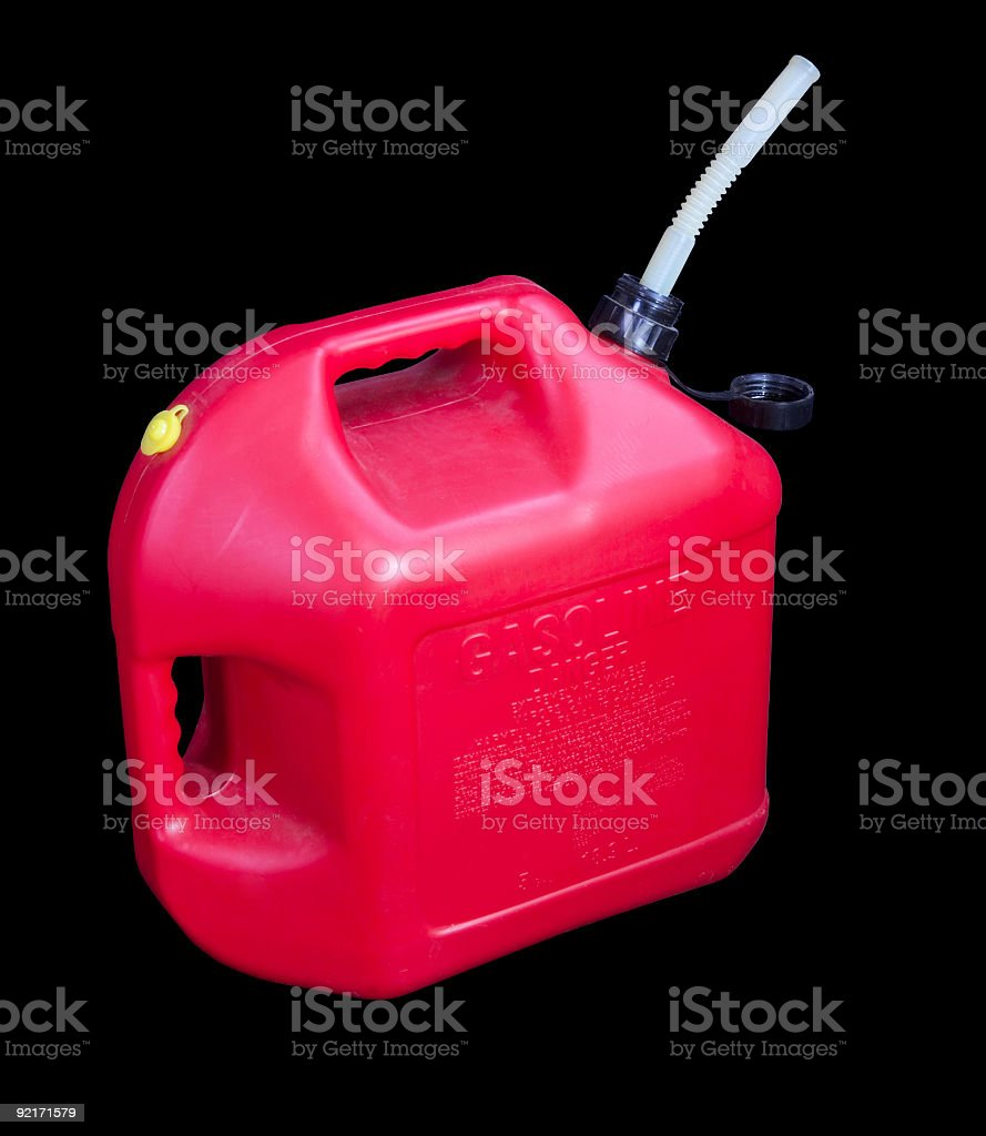 Gasoline Can with Clipping Path royalty-free stock photo