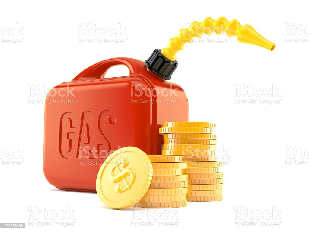 Gasoline canister stock photo