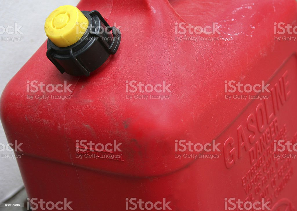 Gasoline Container stock photo