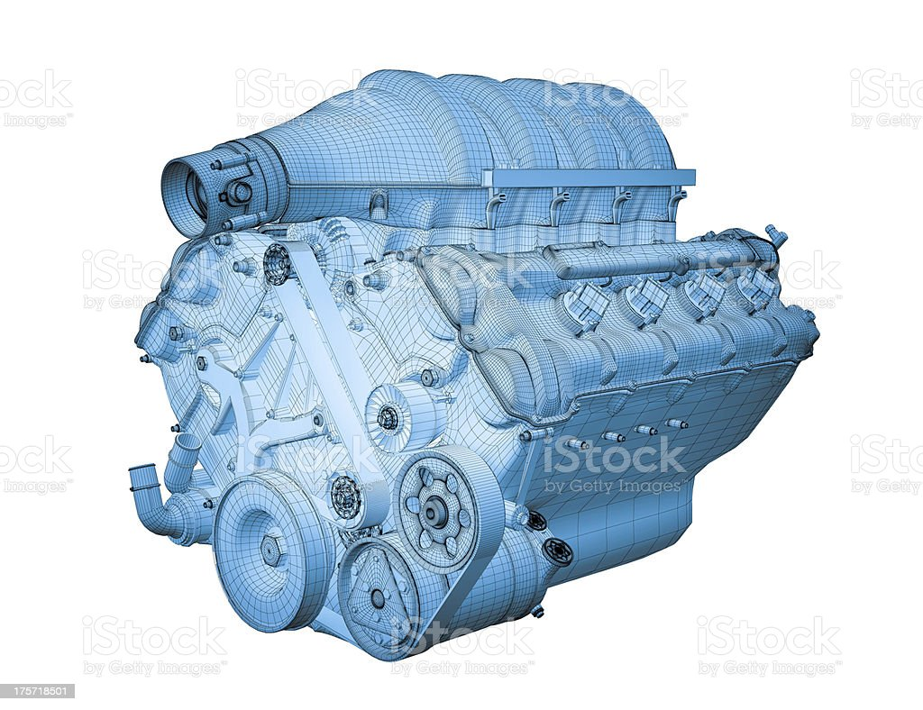 Gasoline engine stock photo