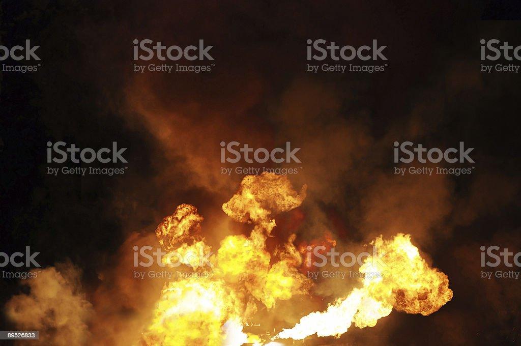 gasoline fire stock photo
