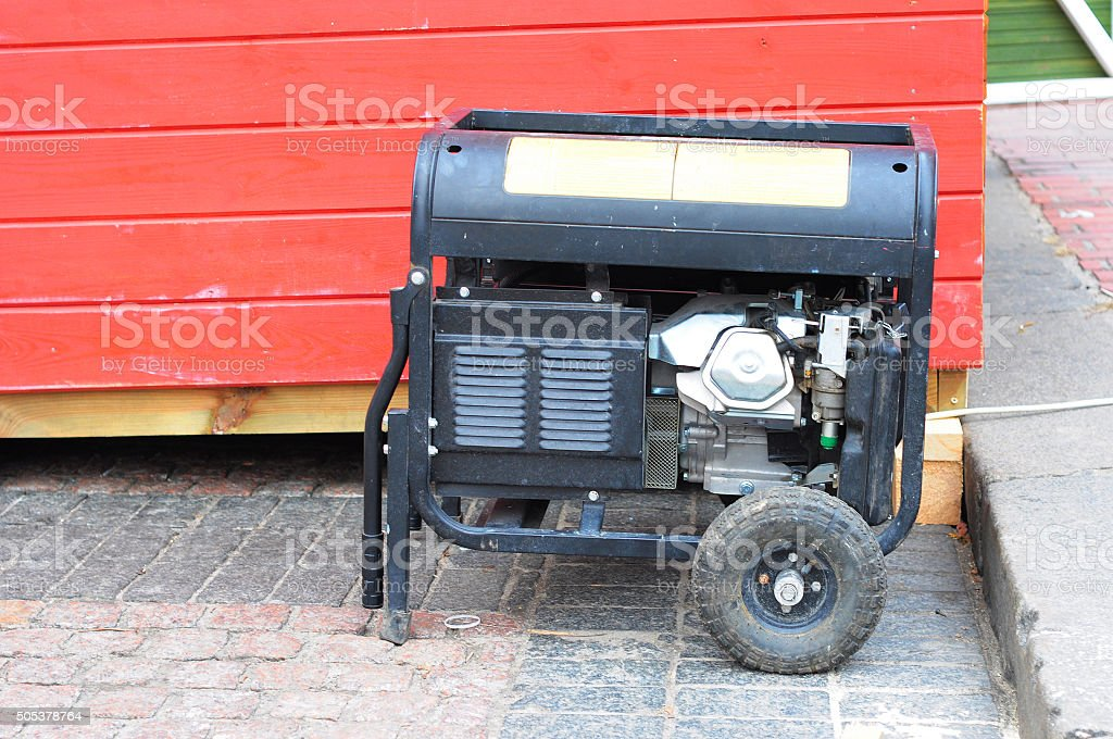 Gasoline Powered Portable Generator stock photo