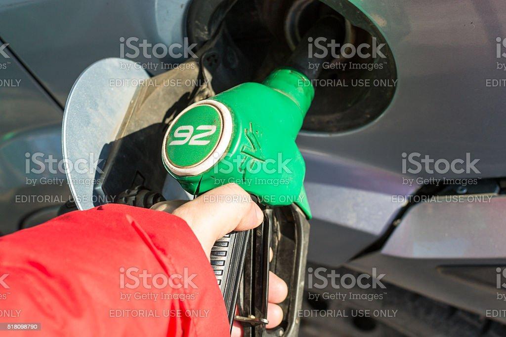 Gasoline Pump Handles stock photo