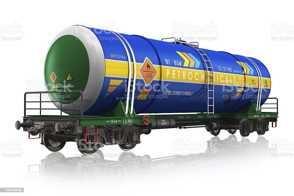 Gasoline railroad tank car royalty-free stock photo