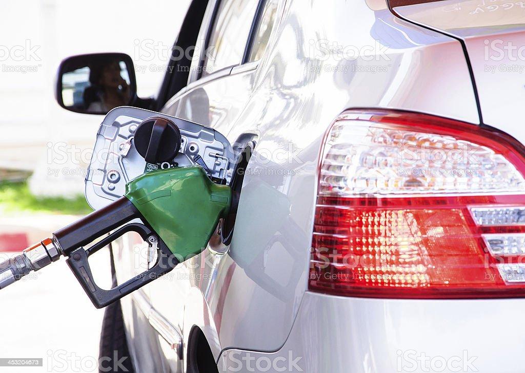 Gasoline refill stock photo