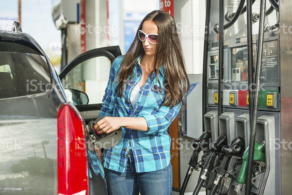 Gasoline refuel royalty-free stock photo