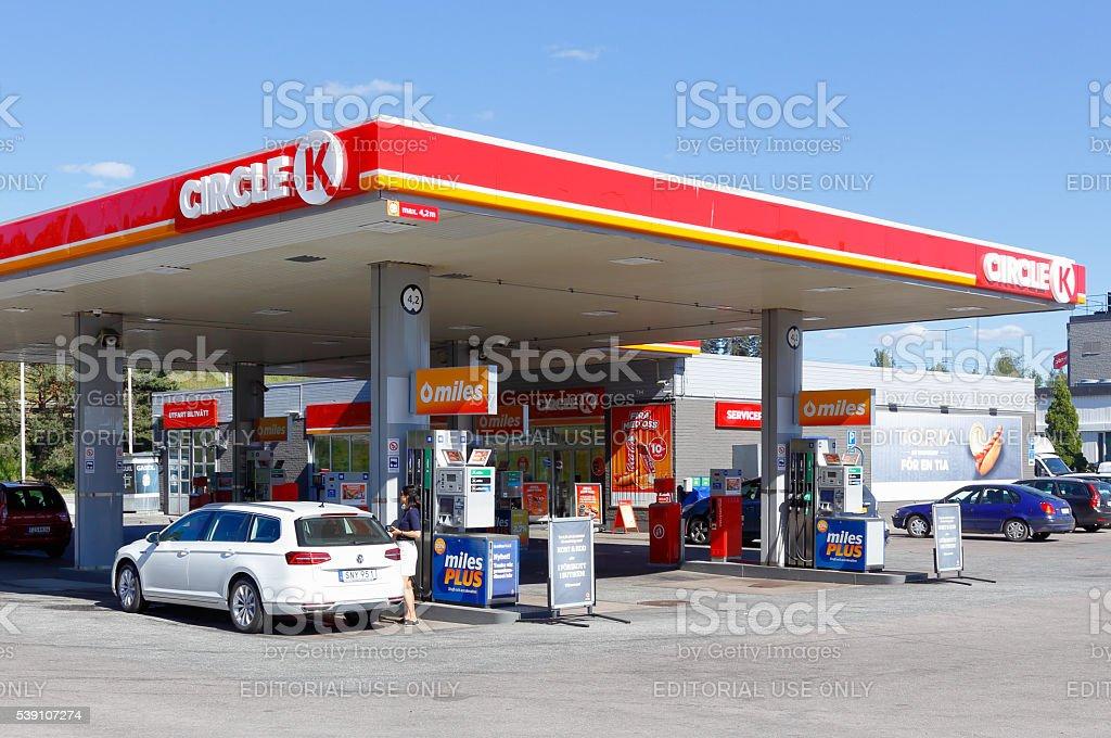 Gasoline  service station Circle K stock photo