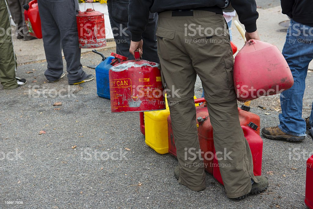 Gasoline Shortages stock photo