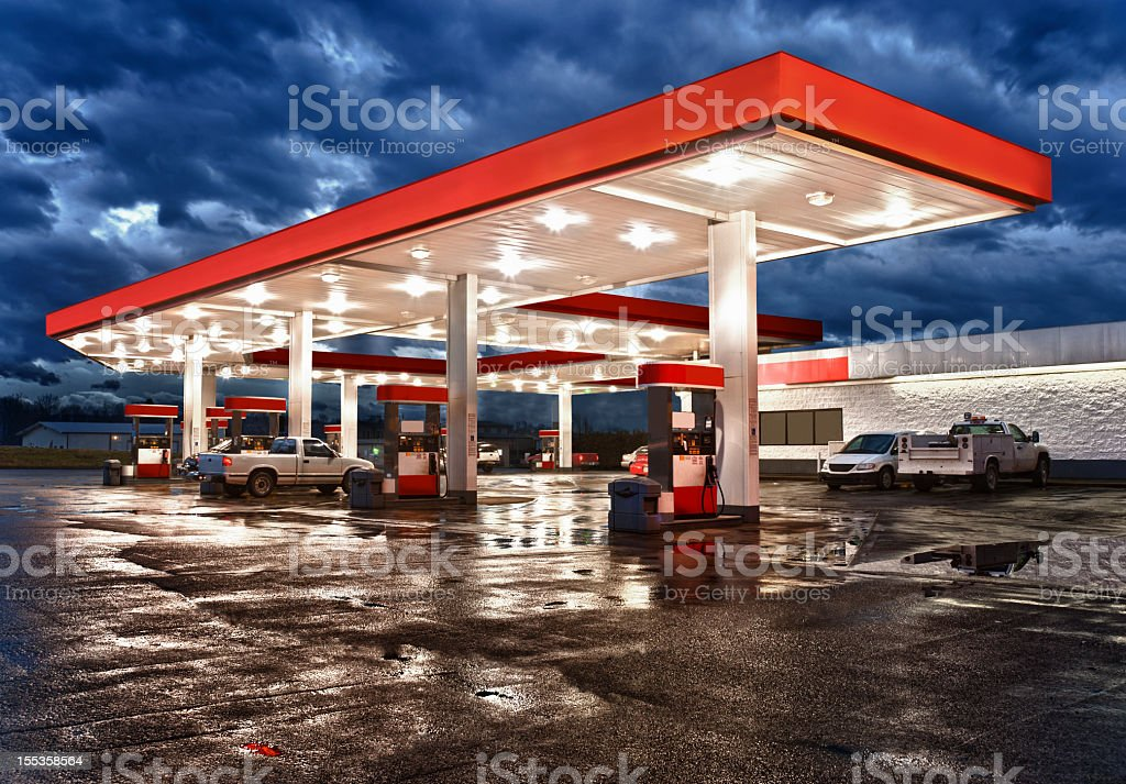 Gasoline Station Convenience Store royalty-free stock photo
