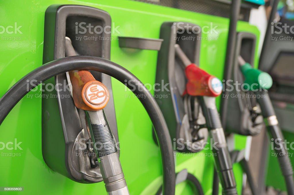 E20 gasoline station stock photo