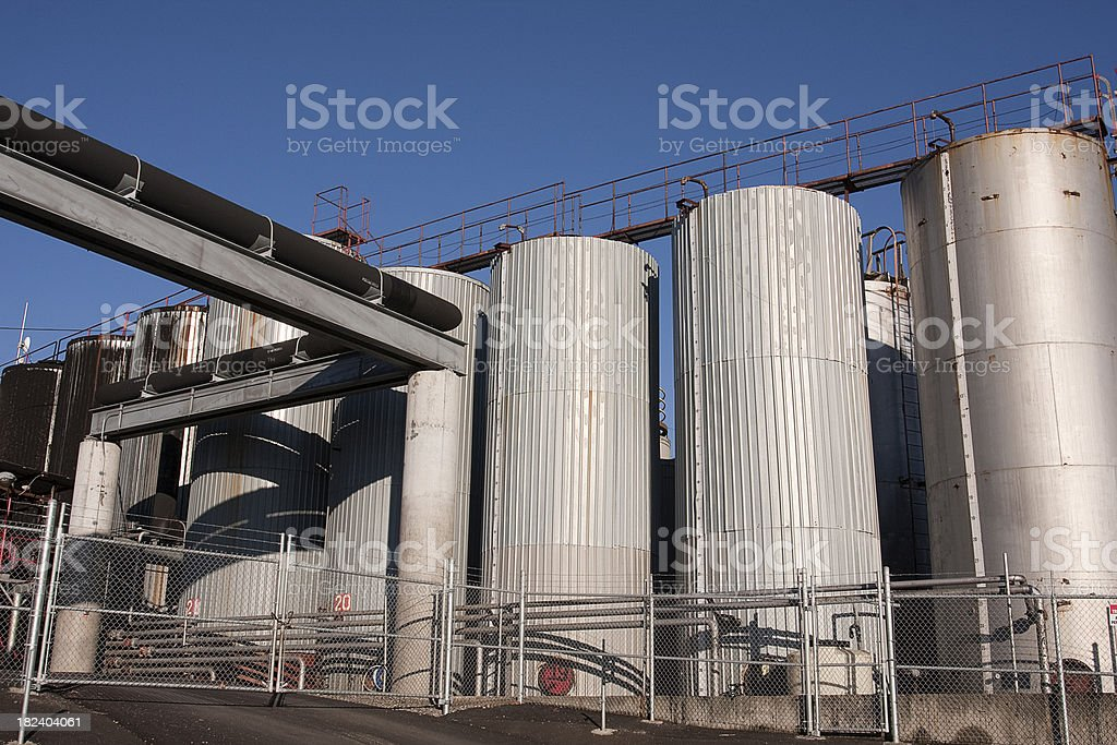 Gasoline storage tanks royalty-free stock photo