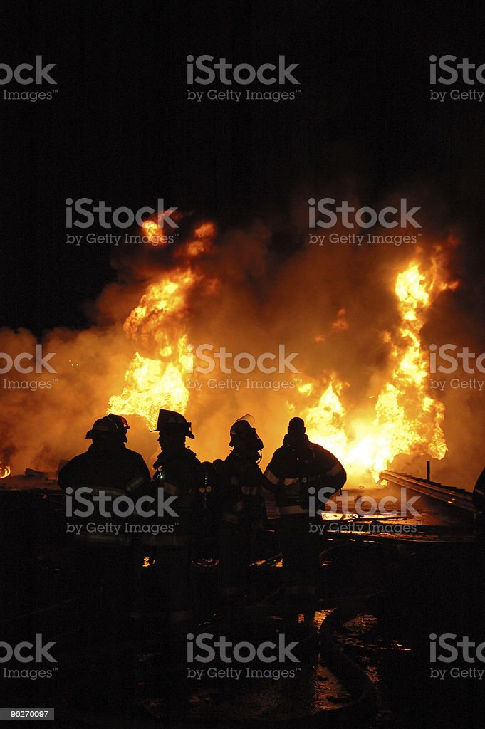 Gasoline Tanker Fire royalty-free stock photo